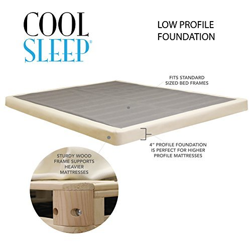 """Cheap Lifetime Sleep Products 4"""" Low Profile"""